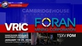 VRIC Invite from Foran Mining (TSXV: FOM) Booth #739 January 19-20, 2020 ~Vancouver, B.C.~