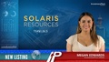 New Listing: Solaris Resources (TSXV:SLS)