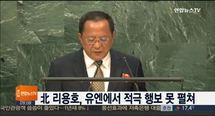 북 리용호, 유엔서 적극 행보 못펼쳐