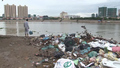 Piles of Garbage on the Banks of Cambodia's Bassac River