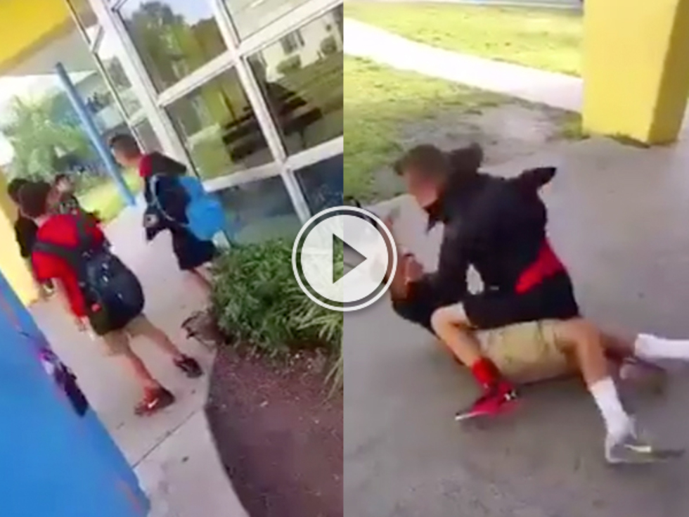 Bully picks on a kid who knows MMA (Video)
