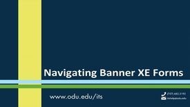 Thumbnail for entry Banner XE Forms Navigation