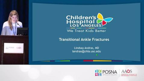 Thumbnail for entry Transitional Ankle Fractures