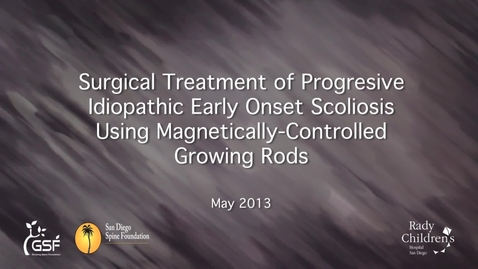 Thumbnail for entry Magnetically-Controlled Growing Rods for the Treatment of Early Onset Scoliosis