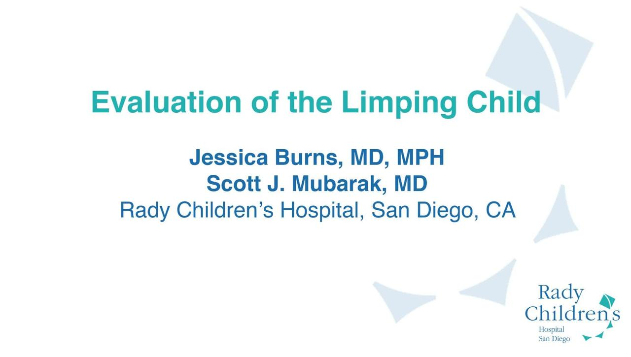 Evaluation of the Limping Child