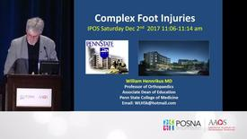 Thumbnail for entry Complex Foot Injuries