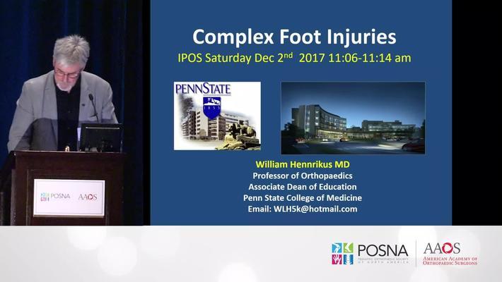 Complex Foot Injuries