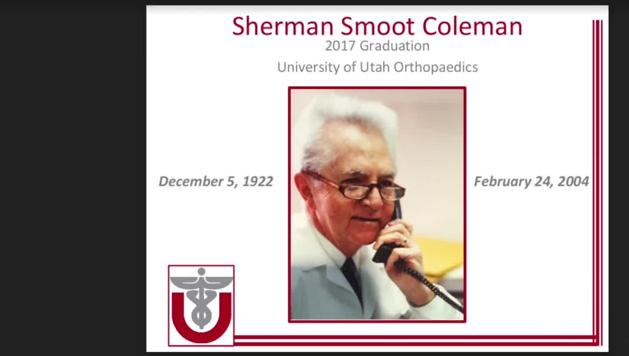 Sherman Smoot Coleman, MD -  A Son's Review