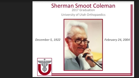 Thumbnail for entry Sherman Smoot Coleman, MD -  A Son's Review