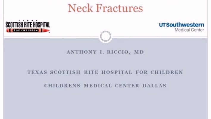 Pediatric and Adolescent Femoral Neck Fractures