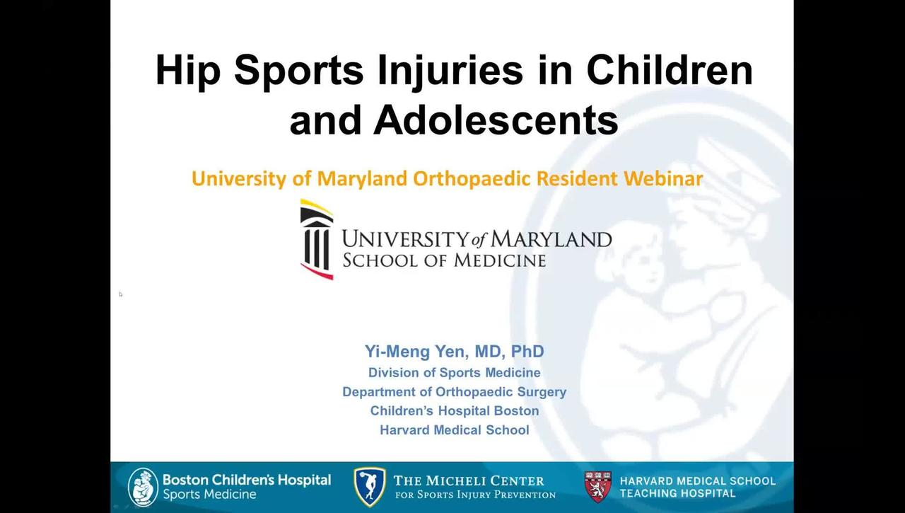 Hip Sports Injuries in Children and Adolescents