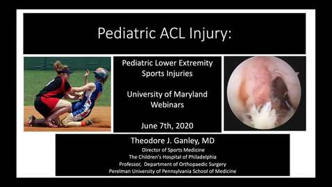 Thumbnail for entry Pediatric ACL Injury
