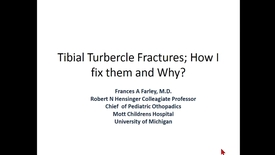 Thumbnail for entry Tibial Turbercle Fractures