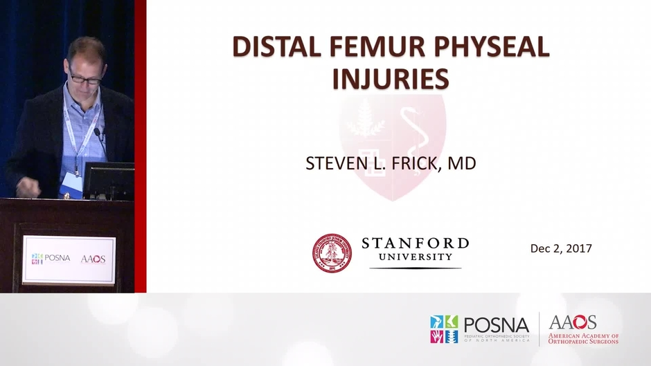 Distal Femur Physeal Injuries Posnacademy