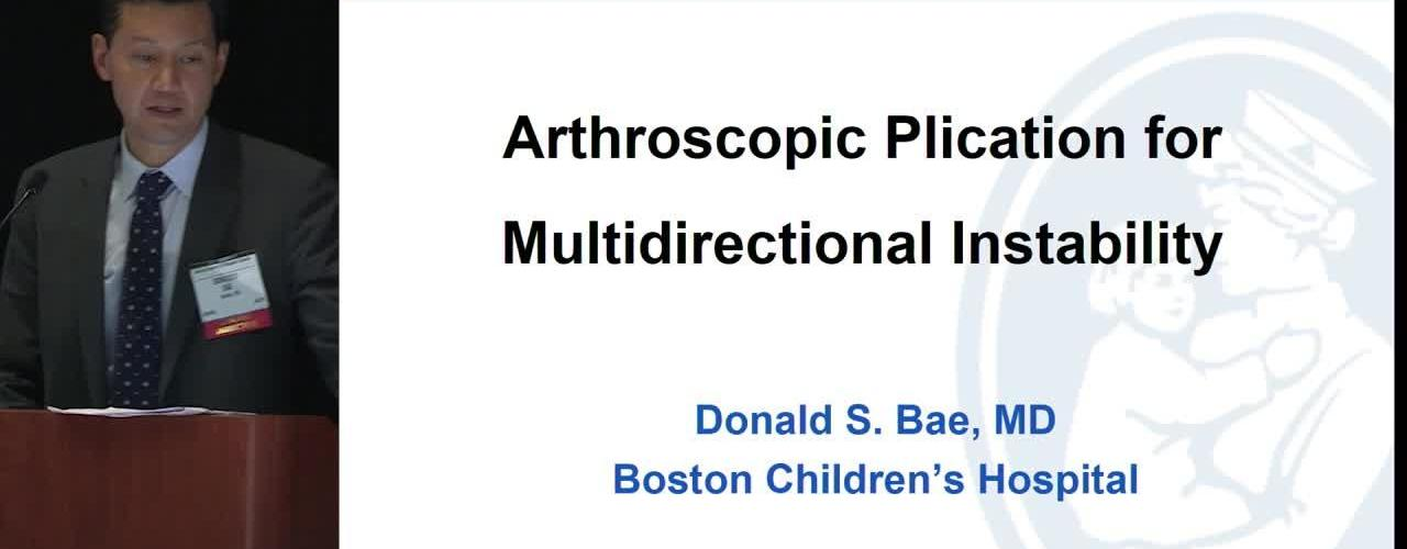 Arthroscopic Plication for Multidirectional Instability of the Shoulder