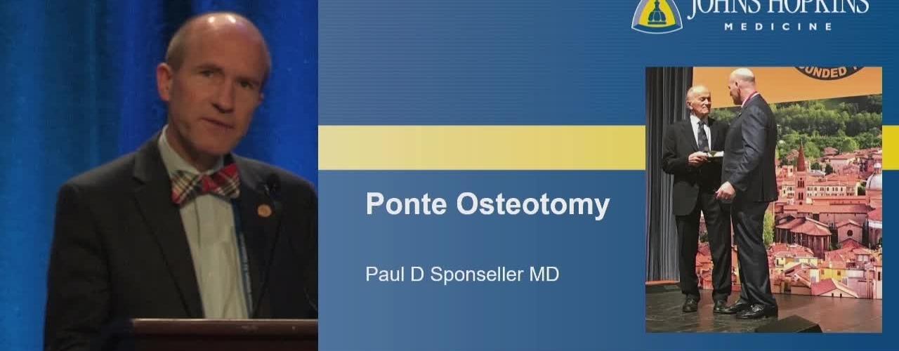 Ponte Osteotomies
