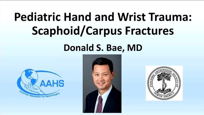 Scaphoid/Carpus Fractures (Pediatric Hand and Wrist Trauma)