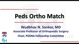 Thumbnail for entry Pediatric Orthopedic Fellowship: From Applying for Fellowship to Securing a Job