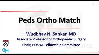 Pediatric Orthopedic Fellowship: From Applying for Fellowship to