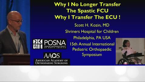 Thumbnail for entry FCU or ECU to ECRB Transfer for Cerebral Palsy