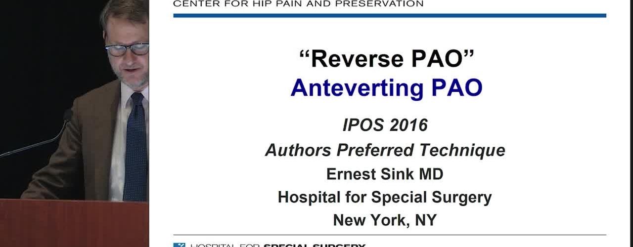 Reverse PAO (Anteverting Periacetabular Osteotomy)