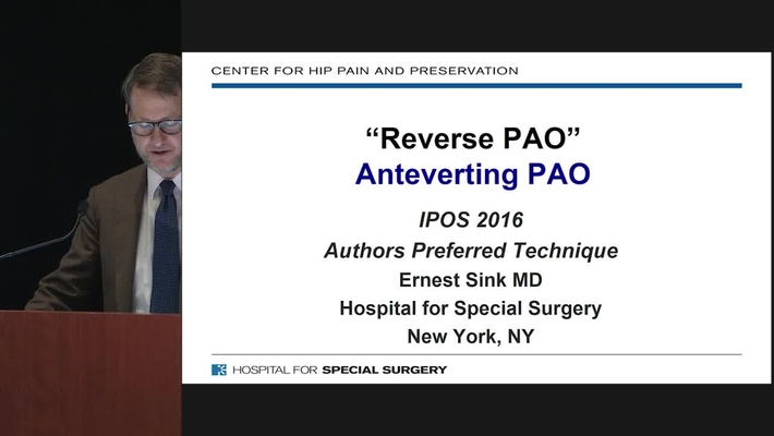 Reverse PAO (Anteverting Periacetabular Osteotomy)