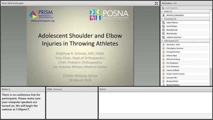 Adolescent Shoulder and Elbow Injuries in Throwing Athletes
