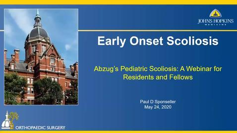 Thumbnail for entry Early Onset Scoliosis