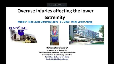 Thumbnail for entry Overuse Injuries Affecting the Lower Extremity