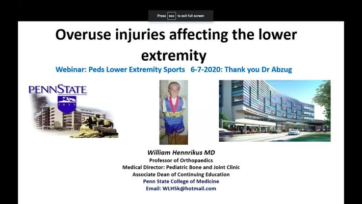 Overuse Injuries Affecting the Lower Extremity
