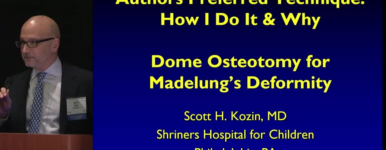 Dome Osteotomy for Madelung's Deformity