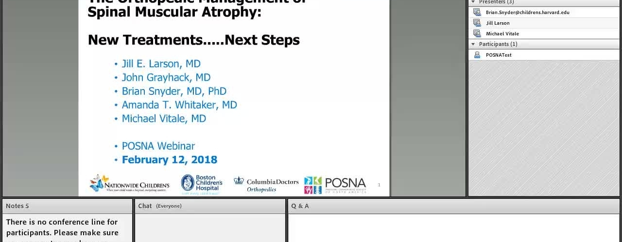 The Orthopedic Management Spinal Muscular Atrophy: New Treatments…Next Steps
