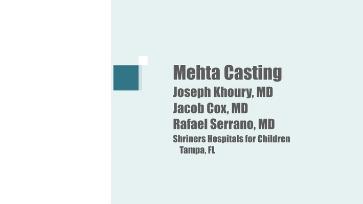 Mehta Casting Technique