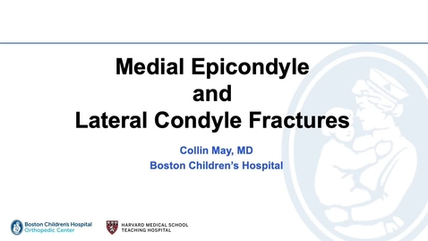 Thumbnail for entry Medial epicondyle and radial neck fractures