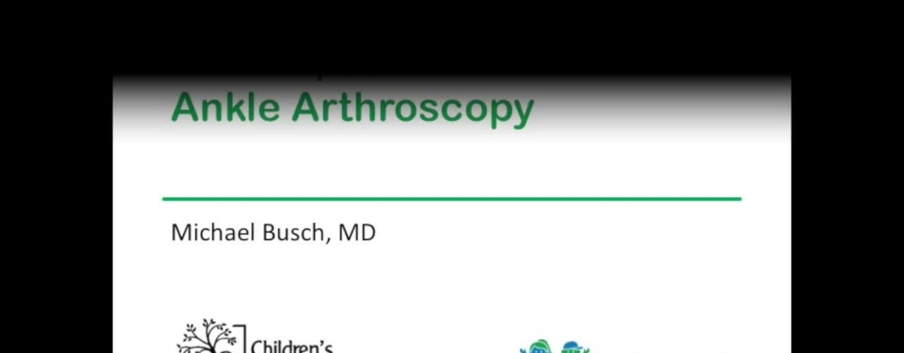 Ankle Arthroscopy Techniques