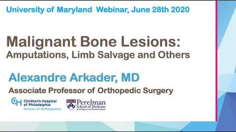 Thumbnail for entry Malignant Bone Lesions