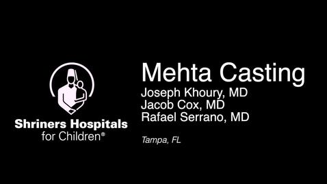 Thumbnail for entry Application of Mehta Cast Technique