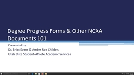 Thumbnail for entry Degree Process Forms and other NCAA Documents 101