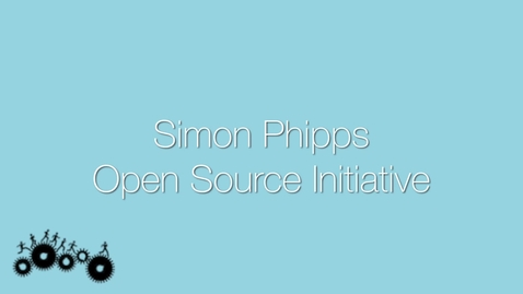 Thumbnail for entry Attendee Interview 2015 - Simon Phipps | Open Source Initiative