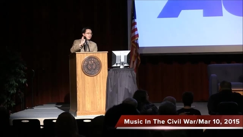 Civil War Lecture Series 2015: Musical Culture of the Antebeellum Era