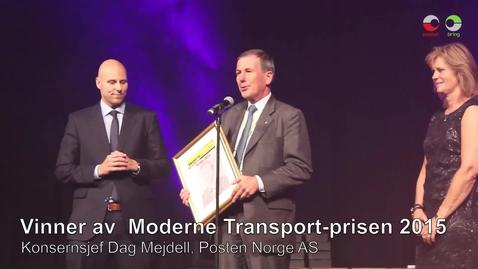 Thumbnail for entry Moderne Transport-prisen 2015