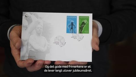 Thumbnail for entry Frimerkelansering, Gustav Vigeland 150 år