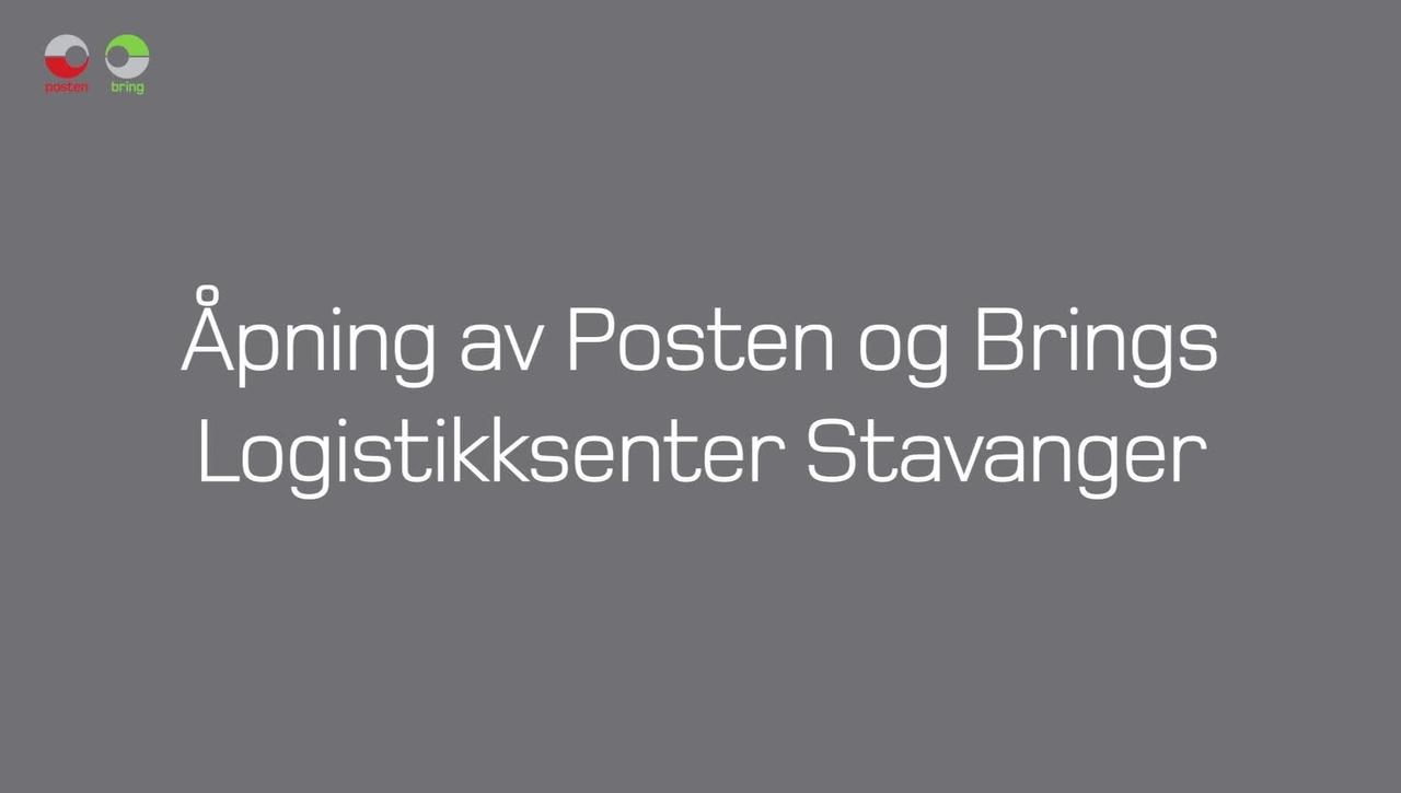 Tones vlog #26 - Åpning av Posten og Brings Logistikksenter Stavanger