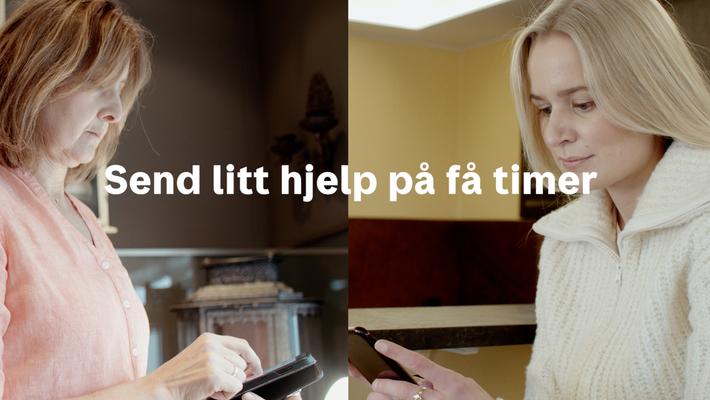 """Norgespakke dør til dør """"Send litt hjelp på få timer"""" 17 sek Trondheim"""