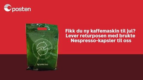 Thumbnail for entry Nespresso: Fikk du kaffemaskin til jul?