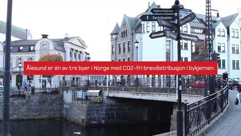 Thumbnail for entry CO2-fri brevlevering i Ålesund