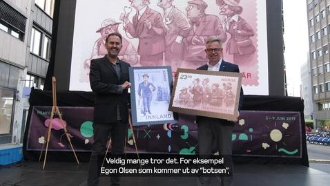 Thumbnail for entry Olsenbanden på frimerker
