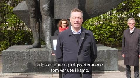 Thumbnail for entry Frimerkelansering: Frigjøringsdagen 8. mai