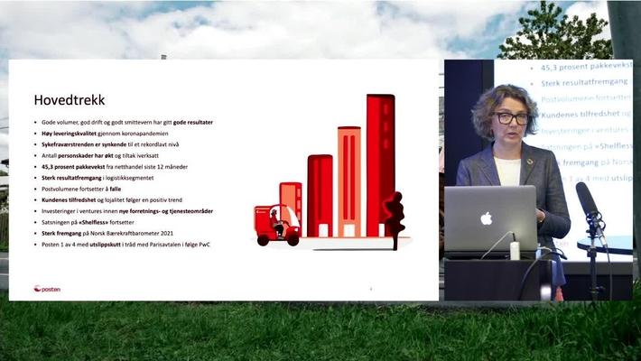 Presentasjon av halvårsresultat 2021