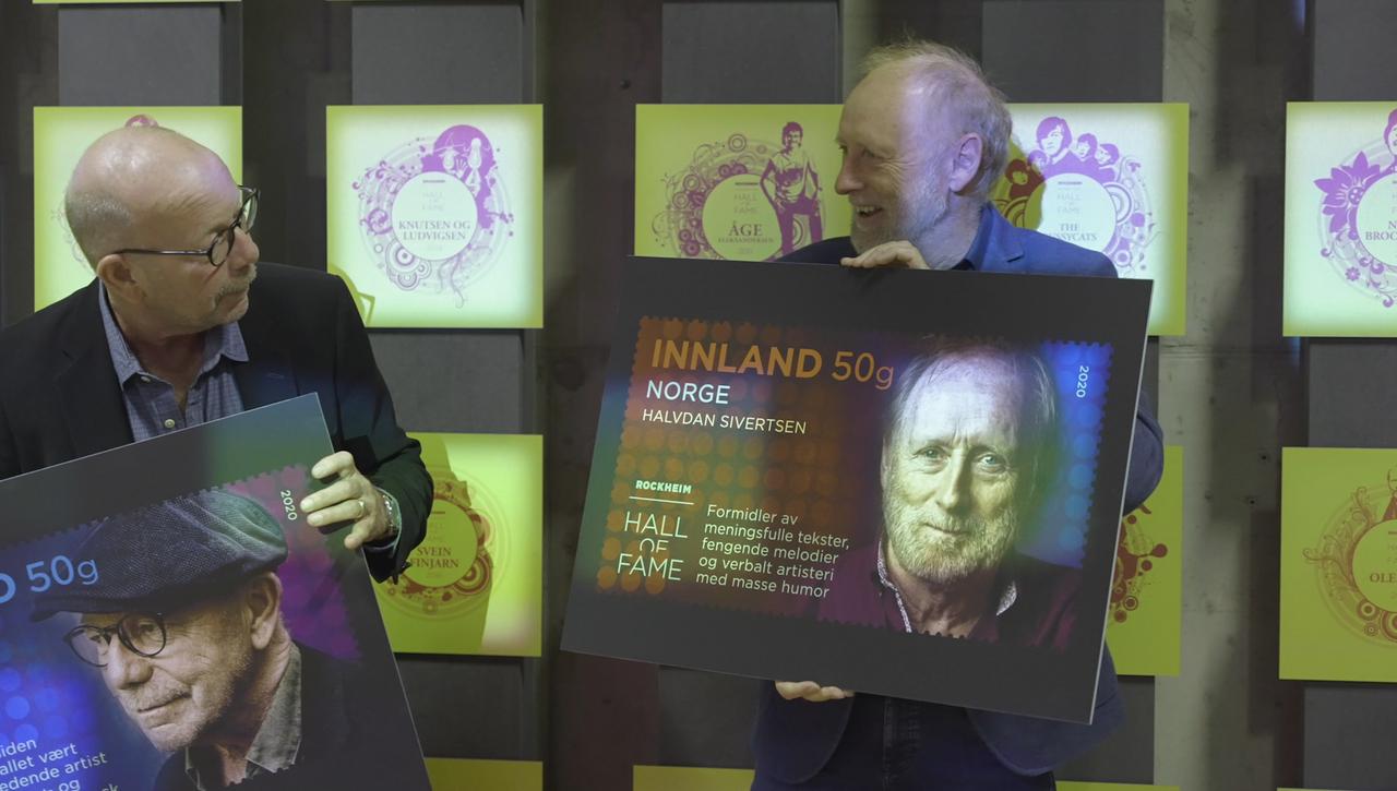 Posten gir ut frimerker med tre artister som i år hedres med plass i Rockheim Hall of Fame